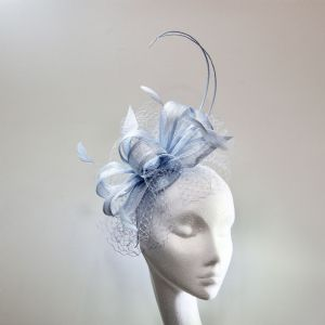 13967 Pretty Jeans Janito Blue Mother of the Bride Fascinator SD656/7